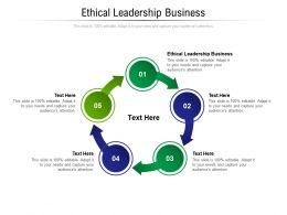 Ethical Leadership Business Ppt Powerpoint Presentation Professional Template Cpb