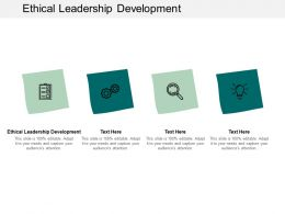 Ethical Leadership Development Ppt Powerpoint Presentation Slides Graphics Template Cpb