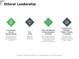 Ethical Leadership Faire Trade Ppt Powerpoint Presentation Layouts Smartart