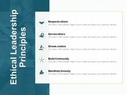 Ethical Leadership Principles Build Community Ppt Powerpoint Presentation File Slide