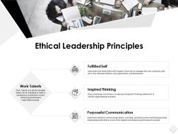 Ethical Leadership Principles Communication Ppt Powerpoint Slides