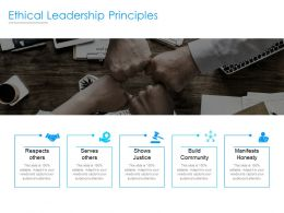 Ethical Leadership Principles Ppt Powerpoint Presentation Infographics Graphics