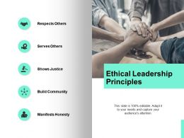 Ethical Leadership Principles Server Ppt Powerpoint Presentation Icon Format