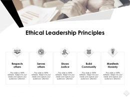 Ethical Leadership Principles Slide Serves Ppt Powerpoint Slides