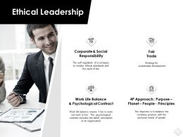 Ethical Leadership Social Responsibility Ppt Powerpoint Slides