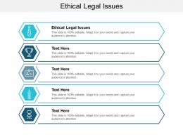 Ethical Legal Issues Ppt Powerpoint Presentation Model Icon Cpb