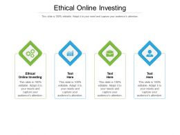 Ethical Online Investing Ppt Powerpoint Presentation Professional Cpb