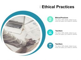 Ethical Practices Ppt Powerpoint Presentation Icon Slide Download Cpb