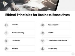 Ethical Principles For Business Executives Accountability Ppt Slides