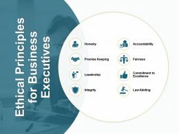 Ethical Principles For Business Executives Commitment To Excellence Ppt Powerpoint Presentation File Grid
