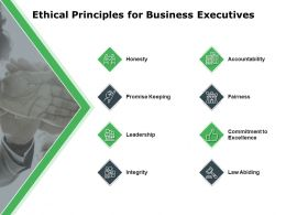 Ethical Principles For Business Executives Leadership Ppt Powerpoint Presentation Layouts Vector