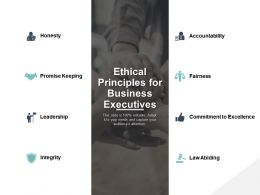 Ethical Principles For Business Executives Ppt Powerpoint Presentation File Vector
