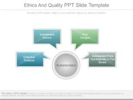 Ethics And Quality Ppt Slide Template