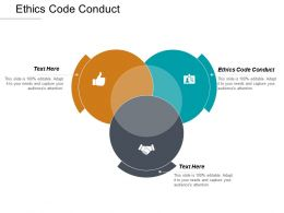 Ethics Code Conduct Ppt Powerpoint Presentation Model Ideas Cpb