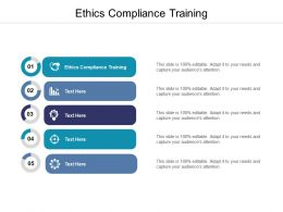 Ethics Compliance Training Ppt Powerpoint Presentation Pictures Example Cpb