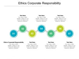 Ethics Corporate Responsibility Ppt Powerpoint Presentation Ideas Graphics Design Cpb