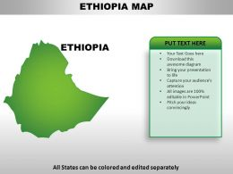 Ethiopia Country PowerPoint Maps