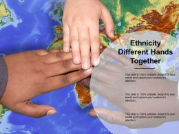 Ethnicity Different Hands Together