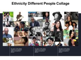 Ethnicity Different People Collage