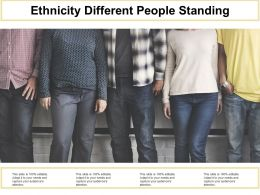 Ethnicity Different People Standing