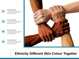 Ethnicity Different Skin Colour Together