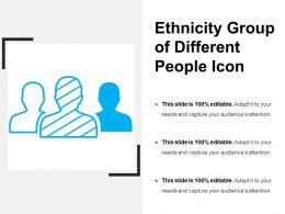 Ethnicity Group Of Different People Icon