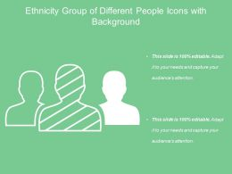 Ethnicity Group Of Different People Icon With Background