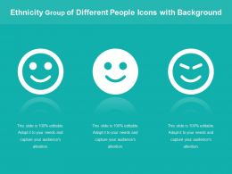 Ethnicity Group Of Different People Icons With Background