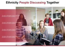 Ethnicity People Discussing Together