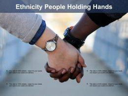 Ethnicity People Holding Hands