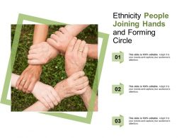 Ethnicity People Joining Hands And Forming Circle