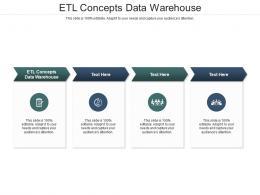 ETL Concepts Data Warehouse Ppt Powerpoint Presentation Infographics Maker Cpb