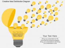 Eu Creative Idea Distribution Diagram Flat Powerpoint Design