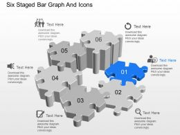 eu Six Staged Bar Graph And Icons Powerpoint Template