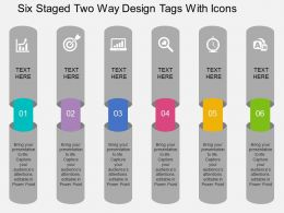 eu Six Staged Two Way Design Tags With Icons Flat Powerpoint Design