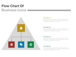 22146735 Style Hierarchy 1-Many 4 Piece Powerpoint Presentation Diagram Infographic Slide