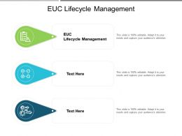 EUC Lifecycle Management Ppt Powerpoint Presentation Slides Brochure Cpb