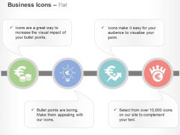Euro Coins Financial Idea Generation Growth Analysis Ppt Icons Graphics