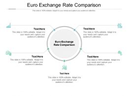 Euro Exchange Rate Comparison Ppt Powerpoint Presentation File Templates Cpb
