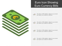 Euro Icon Showing Euro Currency Bills