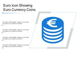 Euro Icon Showing Euro Currency Coins