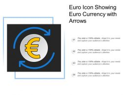Euro Icon Showing Euro Currency With Arrows