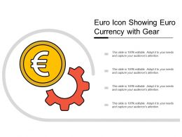 Euro Icon Showing Euro Currency With Gear