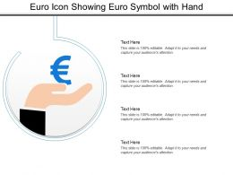 Euro Icon Showing Euro Symbol With Hand