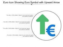 Euro Icon Showing Euro Symbol With Upward Arrow
