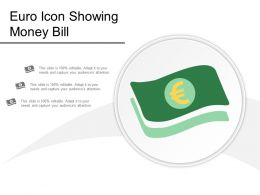 Euro Icon Showing Money Bill