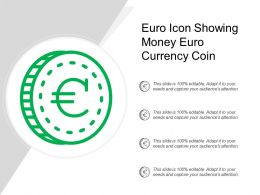 Euro Icon Showing Money Euro Currency Coin