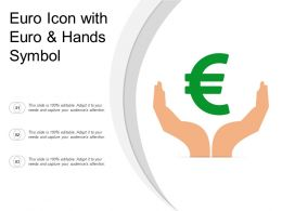 Euro Icon With Euro And Hands Symbol