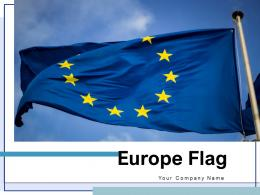 Europe Flag Building Continent Waving Union Stars