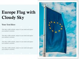 Europe Flag With Cloudy Sky
